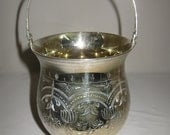 Eales 1779 Silver Plate Berry Basket Bucket Hand Chase Swing Handle 1960