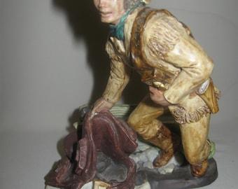 Museum Collection Inc Vintage Figurine Statue Cowboy Pony Express 1987