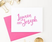 Wedding thank you cards, Personalized thank you cards, wedding gift for couple, wedding gift idea, Wedding thank you notes