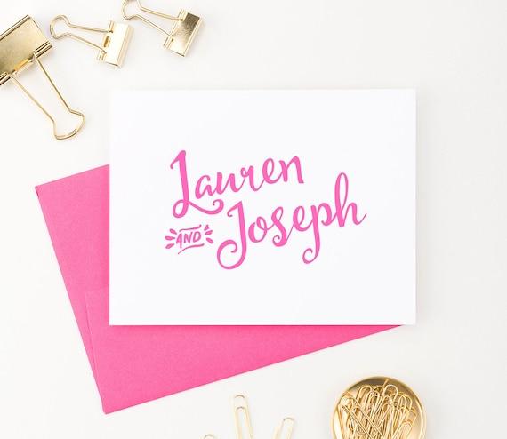 ... Personalized Wedding gift, Personalized Wedding thank you notes, WS001