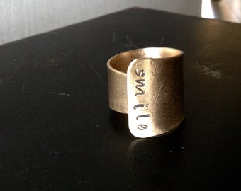 smile - Bronze Cuff Ring