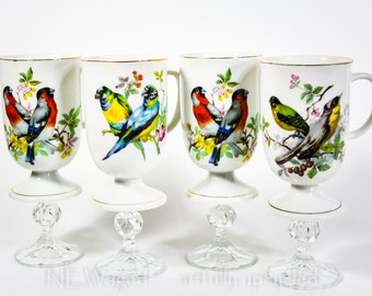 Bird lovers tea cup wine glass, teacup wine glass, unique gift
