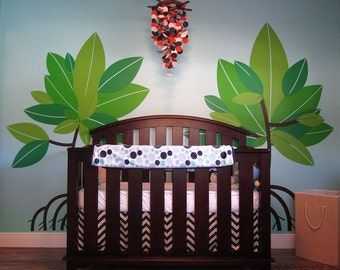 Mangrove Tree Removable Vinyl Wall Decal - Baby Nursery Wall Decors Tropical Trees Nature Wall Stickers  pt0274