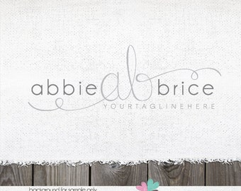 Photography Logo - Initials Logo and Watermark Design Design Logo Stamp branding logo Photographers Logo Bespoke Logo Hand Lettered Written