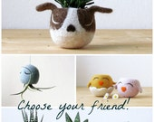 Free Shipping - Succulent planter / dog head planter / cactus planter  / puppy vase/ Christmas gift / Dog lover gift / Boston terrier