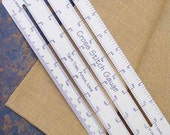 """cross stitch gauge : 8""""-10"""" ruler 11 14 16 18 22 25 26 28 30 32 36 40 count hand embroidery"""