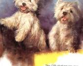 West Highland White Terrier Dog Print, Rien Poortvliet, Vintage Dog Illustration, Wall Decor, Dog Art to Frame