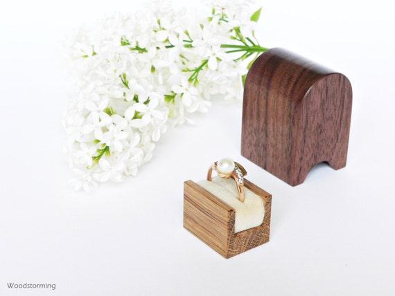 Engagement ring box - ring box - elegant ring box - wood ring box - original Woodstorming design