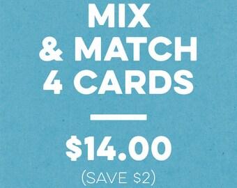 Bulk Greeting Cards, Mix and Match, Greeting Card Bundle, Discount