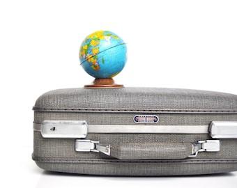 Vintage Petite Grey American Tourister Suitcase - Vintage Luggage