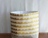 Fabric Storage Basket Metallic Gold