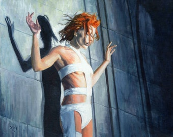 Leeloo - Original Fan Art Acrylic Painting, Fifth Element