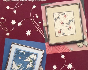Rare The Brobeck Collection MOON BLOSSOMS And SILHOUETTES Cross Cultural Creations From Japanese Kimono - Counted Cross Stitch Pattern Chart