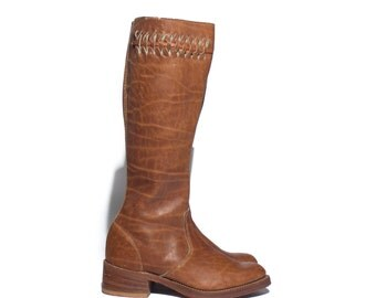 5 M | ACME Dingo Brown Campus Boots Tall Leather Boots
