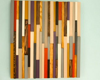Wood Wall Art Sculpture 3D Abstract Wood Sculpture, reclaimed wall art