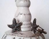 Starfish Cufflinks or Tie Tack Seastar Cuff Links Mens Accessories Sea Stars Silver Wedding Cufflinks