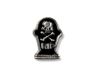 RIP Tombstone Lapel Pin - Tie Tack - Valentine's Gift - Handmade - Gift Box Included