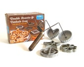 Nordic Ware Rosette Iron Timbale Iron Waffle Shell Maker Dip Form Set