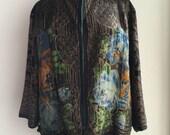 Vtg 1920s Rare Metallic Thread Lamé Delicate Silk Evening Jacket