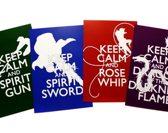 YYH Keep Calm - Art Prints - Illustrated by Jessica Thomas // <3