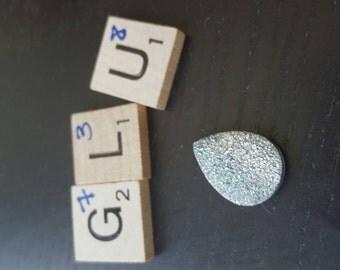 20 x 15mm druzy quartz cabochon - dc738 The Colorado Bead Company