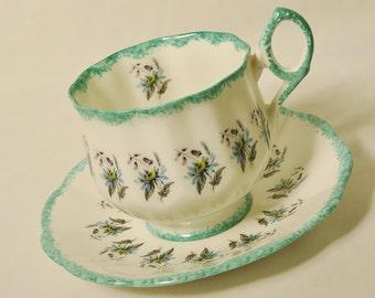Rosina Aquamarine Cup and Saucer