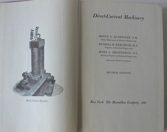 vintage textbook, Direct-Current Machinery, technical school, 1949, from Diz Has Neat Stuff