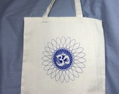 Om, Centering, Beginning End, Prayer, Peace, Tote, Reusable Bag