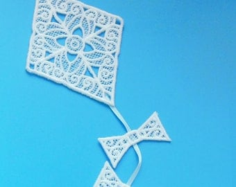 Let's Go Fly a Kite - lace applique