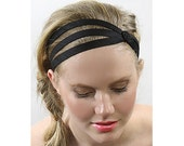 Hair Accessories For Women, Black Headbands For Women, Gifts For Her, Black Silk Headband, No Slip Headbands, Summer Sale