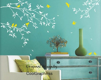 wall decal branches wall decal nursery wall decal tree vinyl wall decals bird wall mural - branches and birds