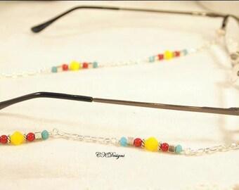 SALE Southwest Style Eyeglass Lanyard, Bead and Chain Sunglass Lanyard, Beaded Eyeglass  Necklace.  CKDesigns.us