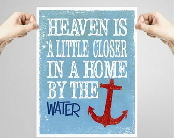 Beach Printables, qoute, anchor print, beachhouse wall decor, nautical decor