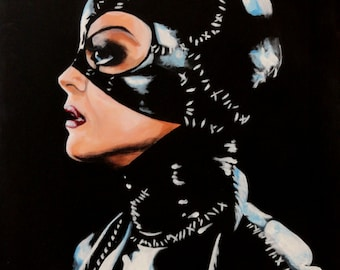 """CATWOMAN Art Print/Reproduction by Violet Love - 10"""" x 12"""""""