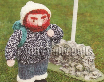 Anne Carol Creations Woolly Wotnots No 44 THE HIKER Toy Doll Ornament Knitting pattern