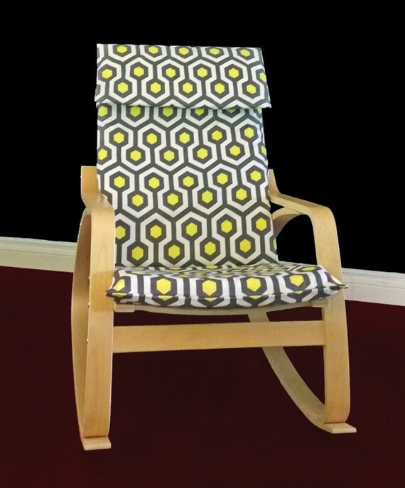 Ikea Algot Wall Upright Shelves ~ IKEA POÄNG Cushion Slipcover Magna Lemon Ready by RockinCushions
