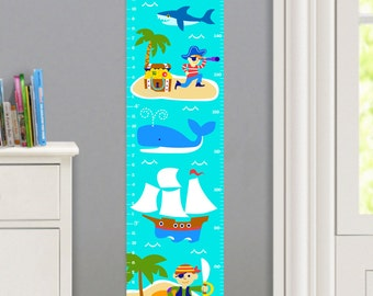 Olive Kids Personalized Pirates Wall Decal Growth Chart