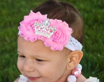 Princess Headband  - Crown Headband -  Tiara Headband