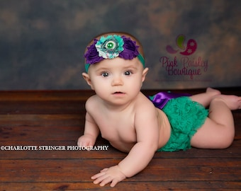 Newborn Diaper Cover -6 Months Baby Girl Pictures - Baby Girl Newborn Photo Prop - Purple bottom cover Cake smash outfit Ruffle Diaper cover