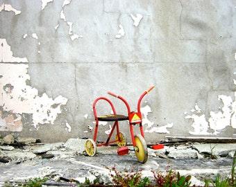 Vintage Primitive Industrial Child's Tricycle