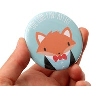 Fox Pocket Mirror - Fox Mirror - Gift Idea Party Favor - Party Bag Filler - Hand Mirror