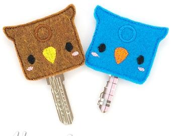 Owl Key Cover Embroidery Design, owl, owl key cover, key cover embroidery, machine embroidery, ITH, in the hoop, 4x4, key cozy, key ring