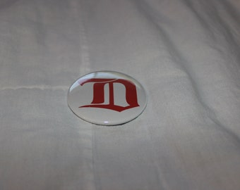 Detroit Michigan D Logo Cougars Pinback Button or Magnet 2.25""
