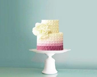 Milk Glass Cake Stand / Cake Plate Cake Platter / Vintage White Cake Cupcake Stand / Cake Pop Stand Truffle Tray / Milkglass CakeStand
