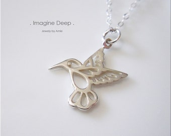 Sterling Silver Hummingbird Necklace High Quality Sterling Silver Simply Beautiful 16 inch 17 inch 18 inch necklace