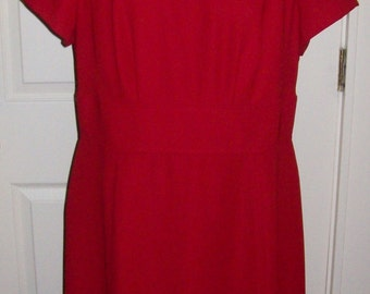 Vintage Ladies Red Dress by East 5th Size 14 WP Only 8 USD