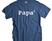 Papa shirt funny 3rd child new father tshirt 3 kids tee shirt fathers day gift for dad baby shower gift for husband papa tshirt men