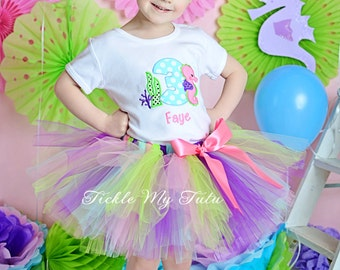 Seahorse Themed Birthday Tutu Outfit-Seahorse Tutu Set-First Birthday Seahorse Party-Under the Sea Birthday Outfit *Bow NOT Included*