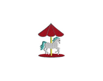 Mini Carousel Embroidery Design-INSTANT DOWNLOAD