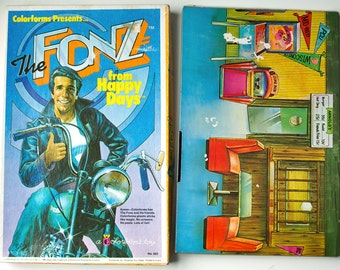 The Fonz - Vintage Happy Days Colorforms Play Set, 1970s, in original box